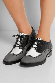 Alexander Wang Nathan elaphe and leather brogues
