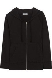James Perse Vintage Supima cotton-fleece hooded top