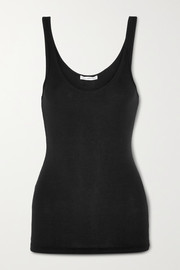 The Daily ribbed stretch-cotton tank