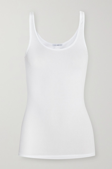 White The Daily ribbed stretch-cotton tank | James Perse HAGxMt