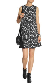 Proenza Schouler Printed silk-georgette mini dress