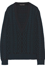 Proenza Schouler Two-tone cable-knit cashmere sweater