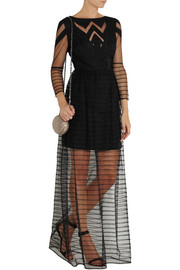 ALICE by Temperley Angelina crepe-paneled tulle maxi dress