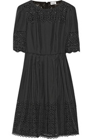 ALICE by Temperley Madison laser-cut crepe de chine dress