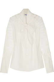 ALICE by Temperley Angelina tulle-paneled chiffon blouse