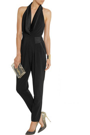 ALICE by Temperley Alice satin-trimmed twill jumpsuit