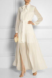 ALICE by Temperley Long Rose pleated georgette maxi dress