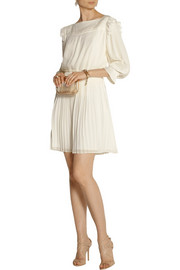 ALICE by Temperley Rose pleated georgette mini dress