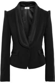 ALICE by Temperley Alice satin-trimmed stretch-twill jacket