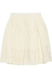 Fleur lace and georgette mini skirt