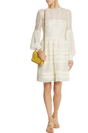 ALICE by Temperley Fleur lace and georgette mini dress