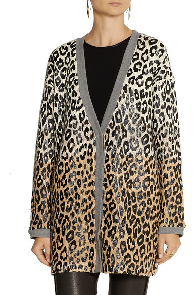 Elizabeth and James | Oversized leopard-print cotton-blend ...