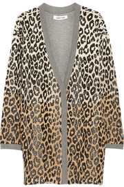 Elizabeth and James Oversized leopard-print cotton-blend cardigan