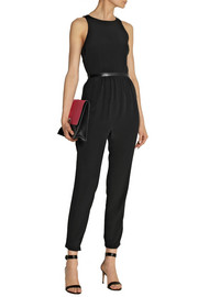 Tibi Open-back silk crepe de chine jumpsuit