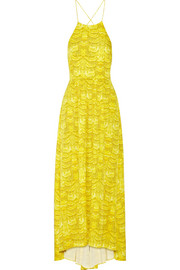 Tibi Printed crepe maxi dress