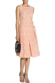 Tibi Cotton-blend jacquard dress