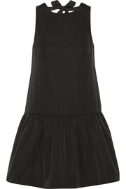 Tibi Katia cotton and silk-blend faille mini dress