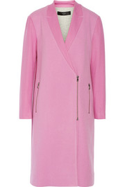 Tibi Paneled bouclé and wool-felt coat