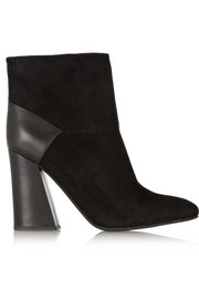 See by Chloé Suede and leather ankle boots