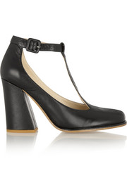 See by Chloé Leather T-bar pumps