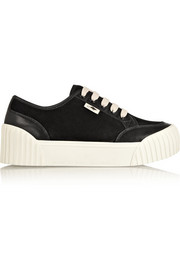 Marc by Marc Jacobs Suede and leather platform sneakers