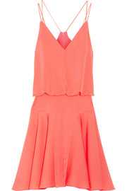 Milly Neon stretch-silk mini dress