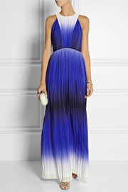 Milly Degradé silk-georgette gown