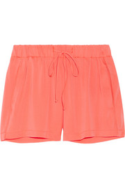 Milly Neon stretch-silk shorts