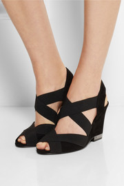 Tory Burch Debbie elasticated suede wedge sandals