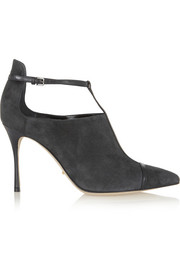 Sergio Rossi Emperor cutout suede and leather boots