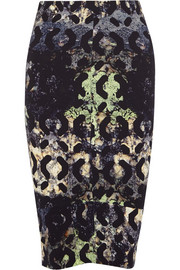 Zero+MariaCornejo Isis printed stretch-crepe pencil skirt