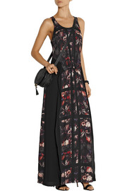 Thakoon Addition Printed crepe maxi dress