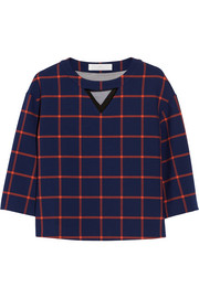 Thakoon Addition Checked gabardine top