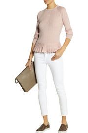 Tory Burch Sienna silk and cashmere-blend peplum sweater