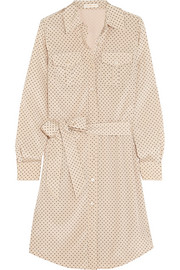 Tory Burch Brigitte polka-dot stretch-silk dress