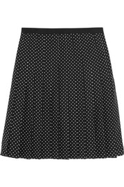 Tory Burch Erica polka-dot silk skirt