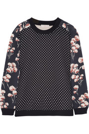 Tory Burch Ronnie printed cotton-jersey sweatshirt