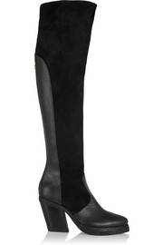 Purified Patsy 7 leather and suede knee boots