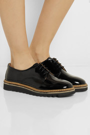 Purified Promo 1 patent-leather brogues