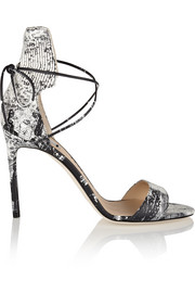 Reed Krakoff Snake-print leather sandals
