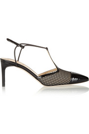 Reed Krakoff Mesh and patent-leather T-bar pumps