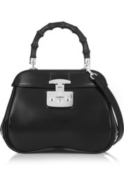 Gucci Lady Lock small glossed-leather shoulder bag