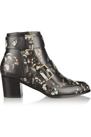 Jason Wu Floral-print leather ankle boots
