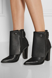 Tibi Bailey leather and nubuck ankle boots