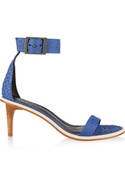 Tibi Ivy snake-effect leather sandals