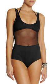 Zimmermann Filigree layered halterneck swimsuit