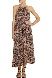 Zimmermann Sundown animal-print crepe maxi dress