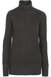 Rick Owens Chunky-knit wool turtleneck sweater