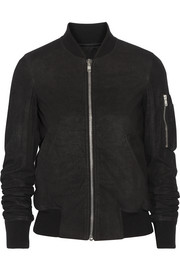 Rick Owens Brushed-leather bomber jacket