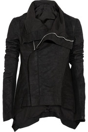 Rick Owens Naska brushed-leather jacket